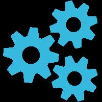 Gear Wheel Blue